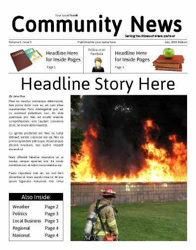 Newspaper Front Page Template Best Of Free Newspaper Templates Print and Digital
