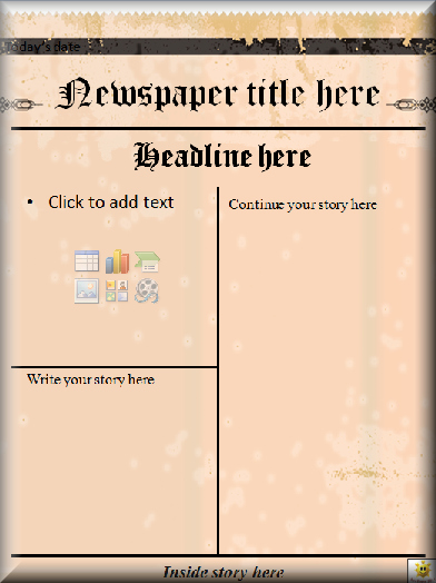 Newspaper Front Page Template Best Of Literacy