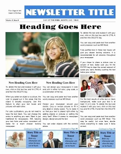 Newspaper Front Page Template Elegant Sleek Looking Front Page All Purpose News Template Try