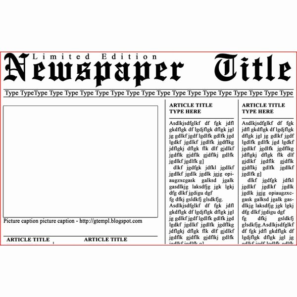 Newspaper Front Page Template Lovely Newspaper Layout Templates Excellent sources to Help You
