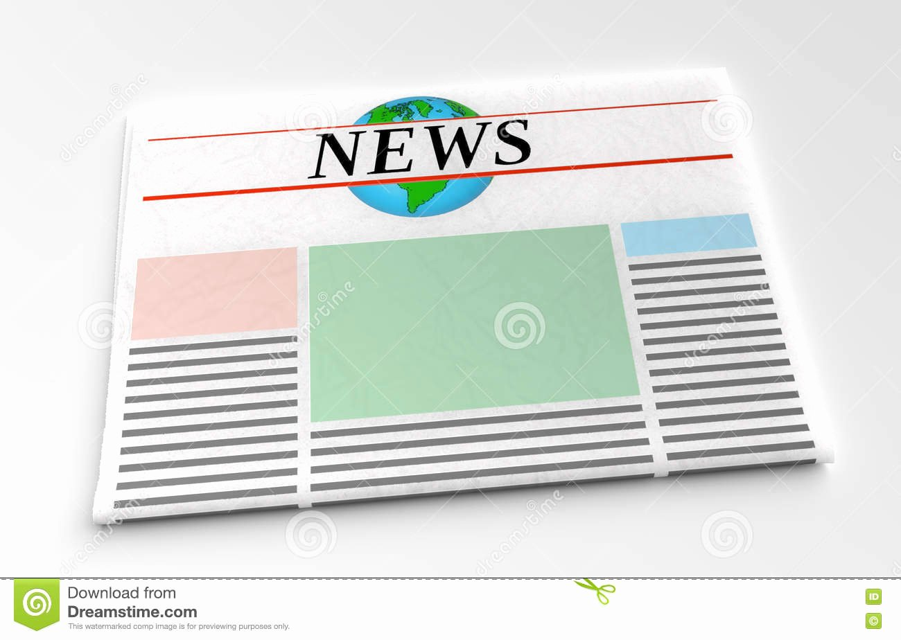 Newspaper Front Page Template New Newspaper Front Page Stock Image
