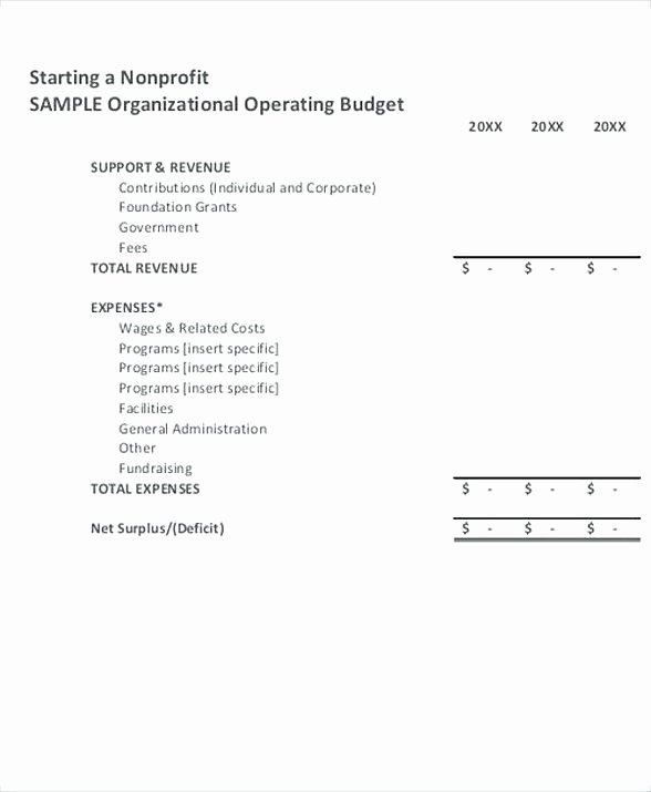 Non Profit Budget Template Best Of Nonprofit Operating Bud Template 8 Non Profit Bud