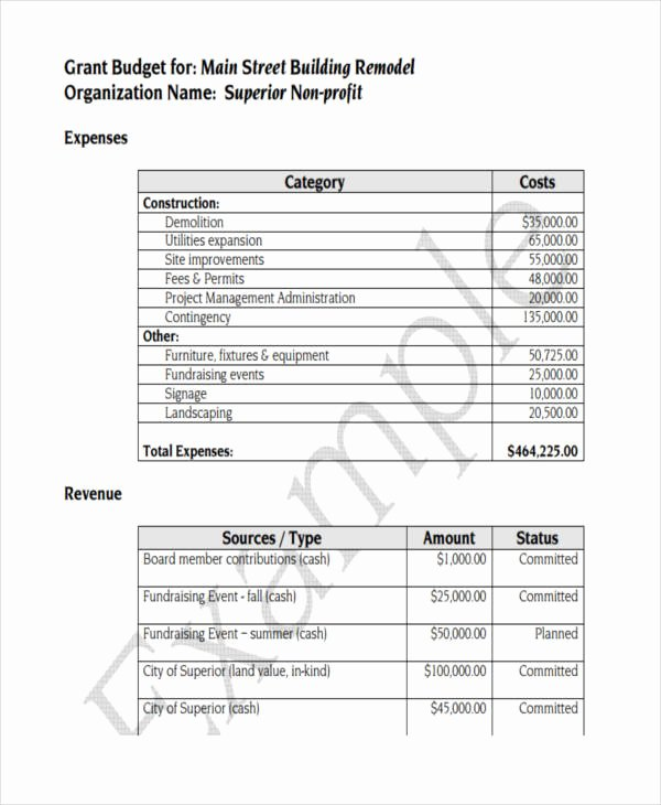 Non Profit Budget Template New 7 Nonprofit Bud Templates Word Pdf Excel