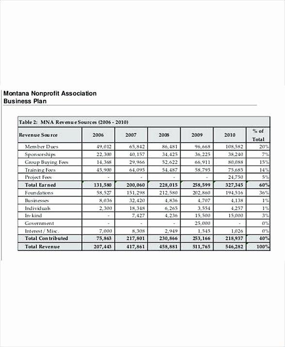 Non Profit Budget Template New 8 Non Profit Bud Template