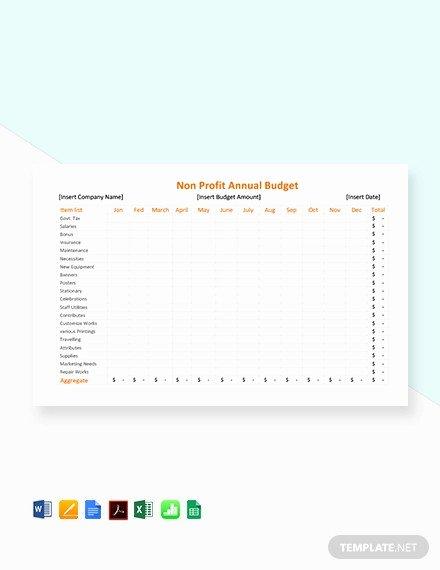 Non Profit Budget Template Unique 12 Non Profit Bud Templates Word Pdf Excel Google