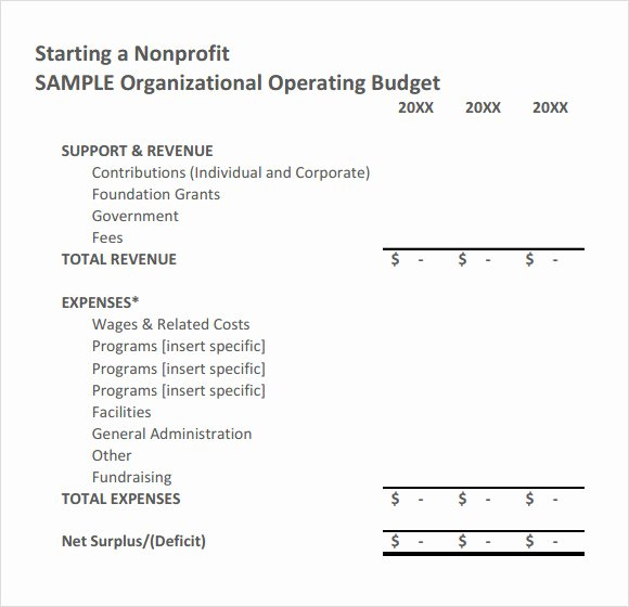 Non Profit Budget Template Unique Free 9 Non Profit Bud Templates In Google Docs