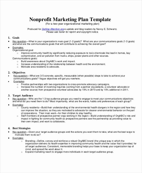 Non Profit Business Plan Lovely 8 Nonprofit Plan Examples Samples