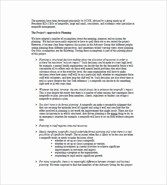 Non Profit Business Plan New Business Plan Template 111 Free Word Excel Pdf format