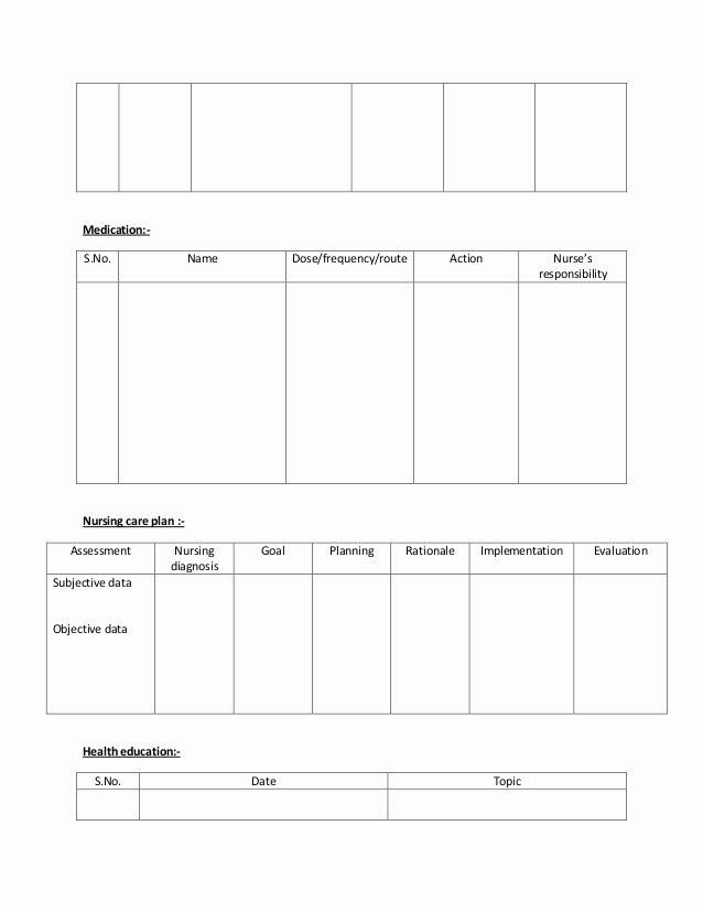 Nursing Care Plans Template Beautiful 27 Of Family Nursing Care Plan Template