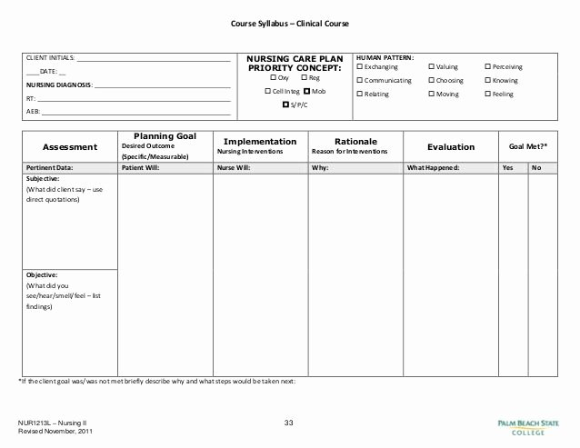 Nursing Care Plans Template New Blank Nursing Care Plan Templates Google Search