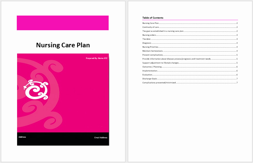 Nursing Care Plans Template Unique Nursing Care Plan Template – Word Templates for Free Download