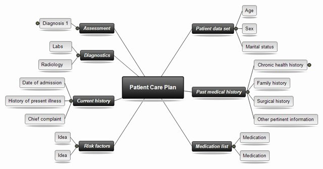 Nursing Concept Mapping Template Best Of Template for Nursing Care Plan
