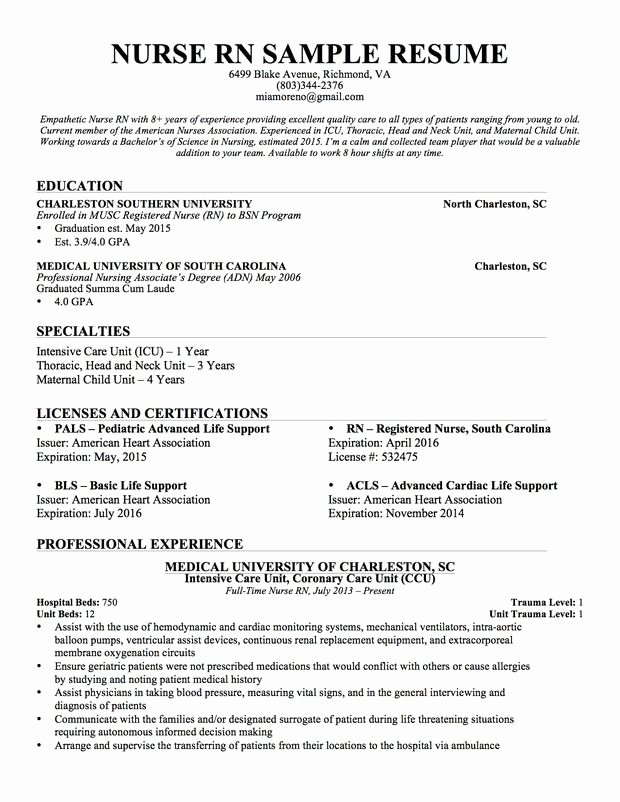 Nursing Student Resume Template Beautiful Experienced Nursing Resume Nerdy Nurse Stuff