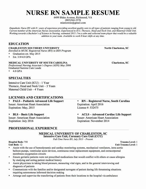Nursing Student Resume Template Beautiful Experienced Nursing Resume Nerdy Nurse Stuff