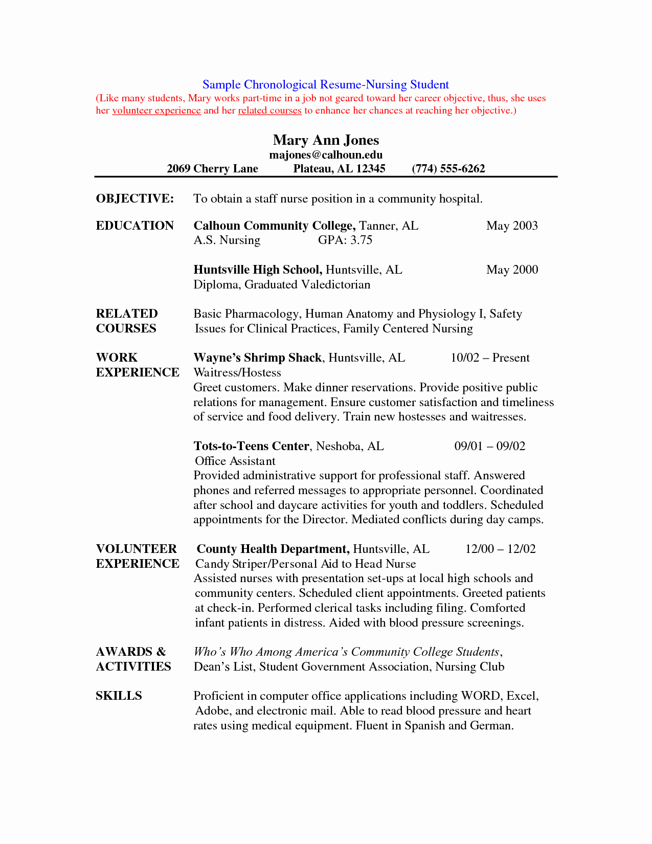 Nursing Student Resume Template Beautiful Nursing Student Resume