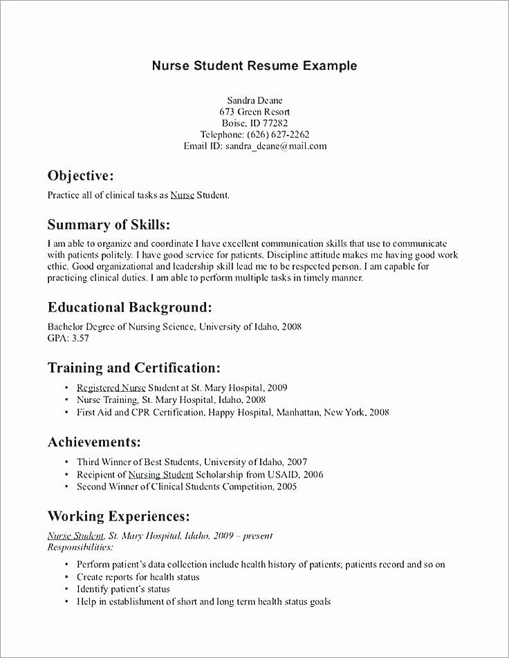 Nursing Student Resume Template Elegant 11 12 Sample Pitch for Resume