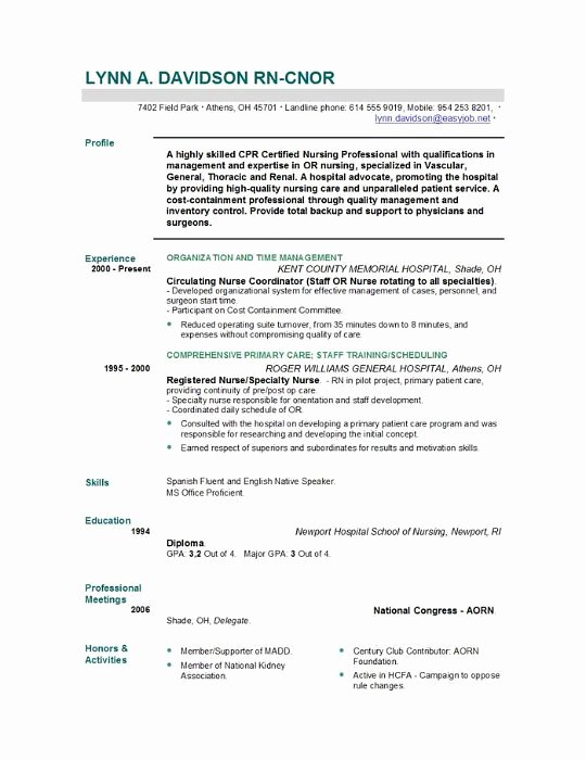 Nursing Student Resume Template Inspirational Nursing Resume Templates Easyjob