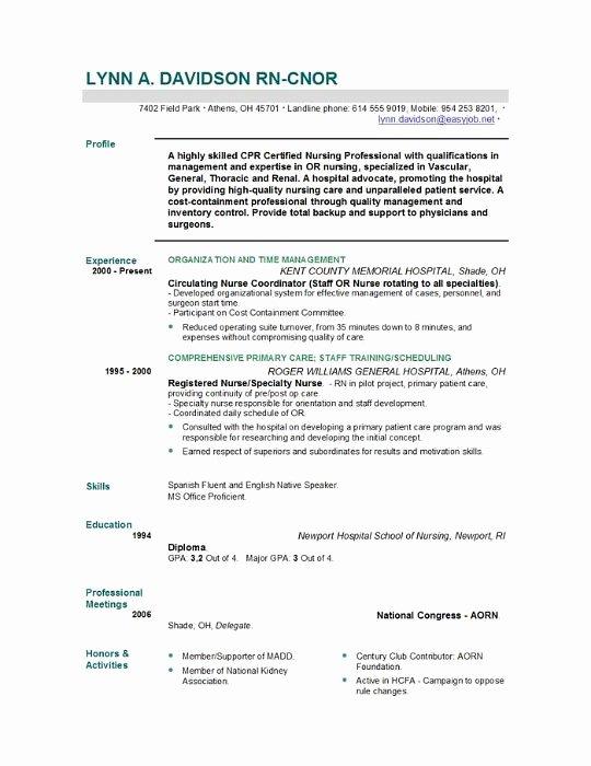 Nursing Student Resume Template Inspirational Nursing Resume Templates Easyjob
