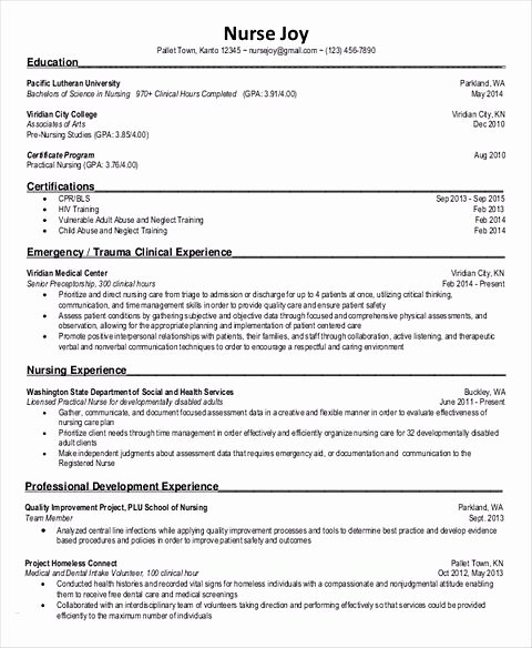 Nursing Student Resume Template Inspirational Nursing Student Resume Samples and Tips