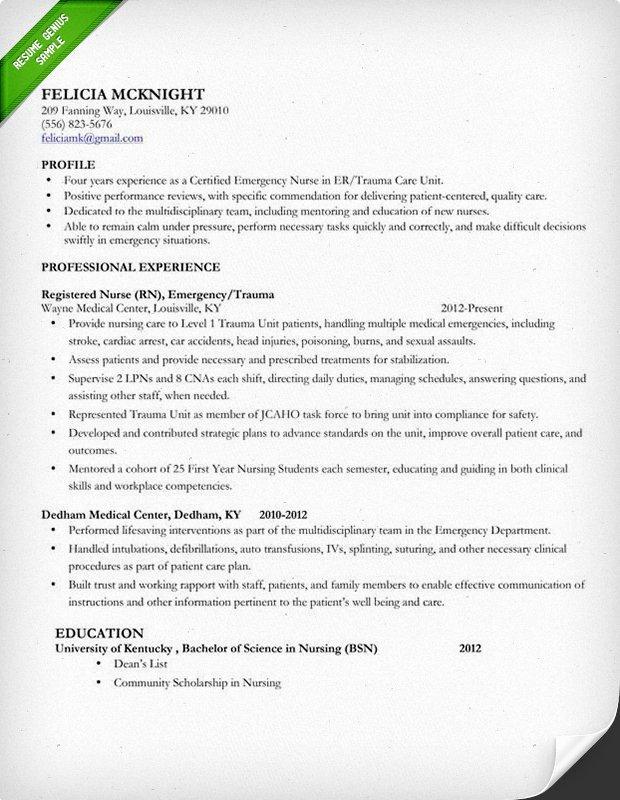 Nursing Student Resume Template New 10 Best Nursing Resume Templates