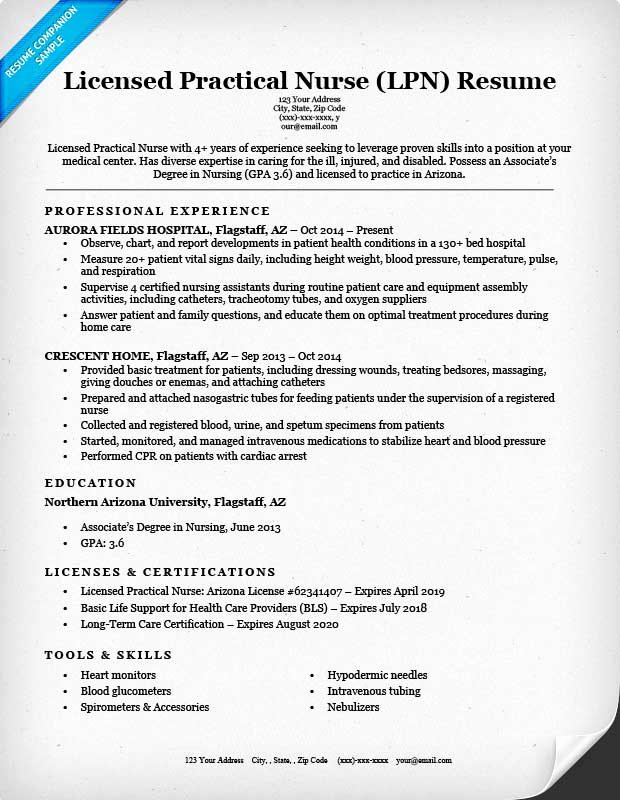 Nursing Student Resume Template Unique Licensed Practical Nurse Lpn Resume Sample & Writing
