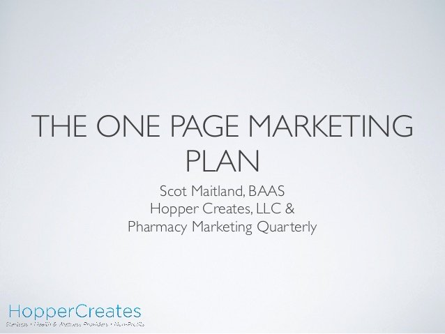 One Page Marketing Plan Awesome E Page Marketing Plan