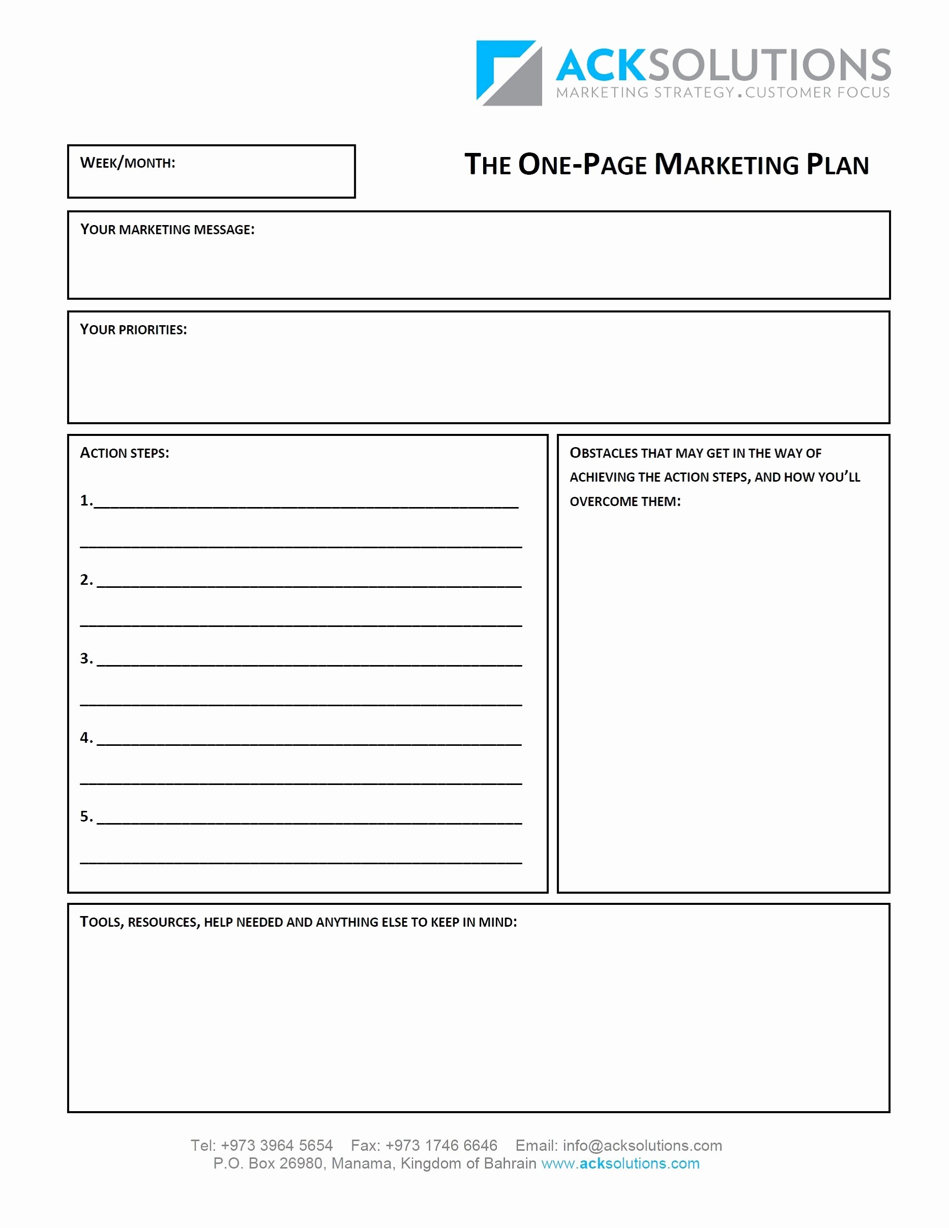 One Page Marketing Plan Best Of 10 E Merce Marketing Plan Examples Pdf Word Docs