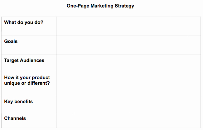 One Page Marketing Plan Best Of How to Quickly Create A E Page Marketing Plan