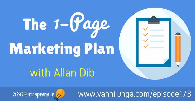 One Page Marketing Plan Fresh Tse 173 the 1–page Marketing Plan with Allan Dib