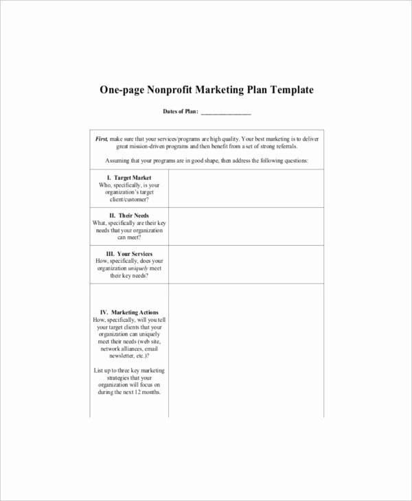 One Page Marketing Plan New 7 E Page Marketing Templates – Free Sample Example