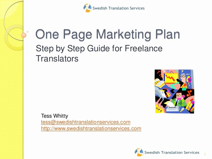 One Page Marketing Plan New E Page Marketing Plan2