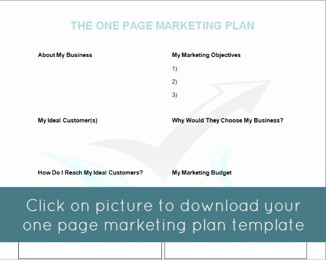 One Page Marketing Plan Unique the E Page Marketing Plan Mymarketormymarketor