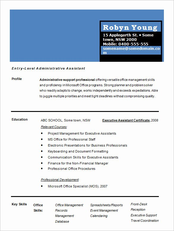 One Page Resume Examples Inspirational 41 E Page Resume Templates Free Samples Examples