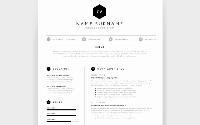 One Page Resume Examples Lovely Cv Template Modern One Page format Career E Career Advice