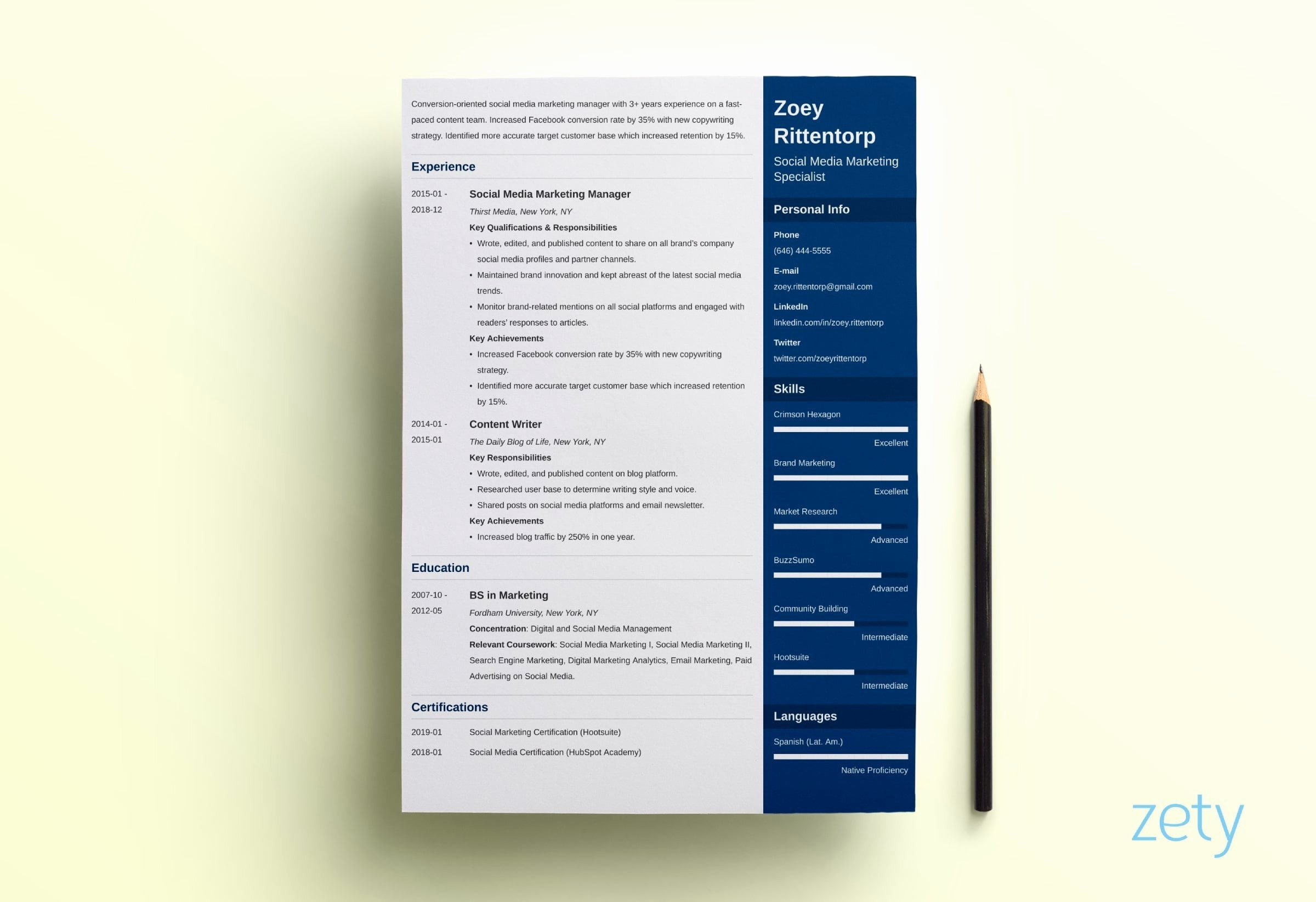 One Page Resume Examples Lovely E Page Resume Templates 15 Examples to Download and Use now