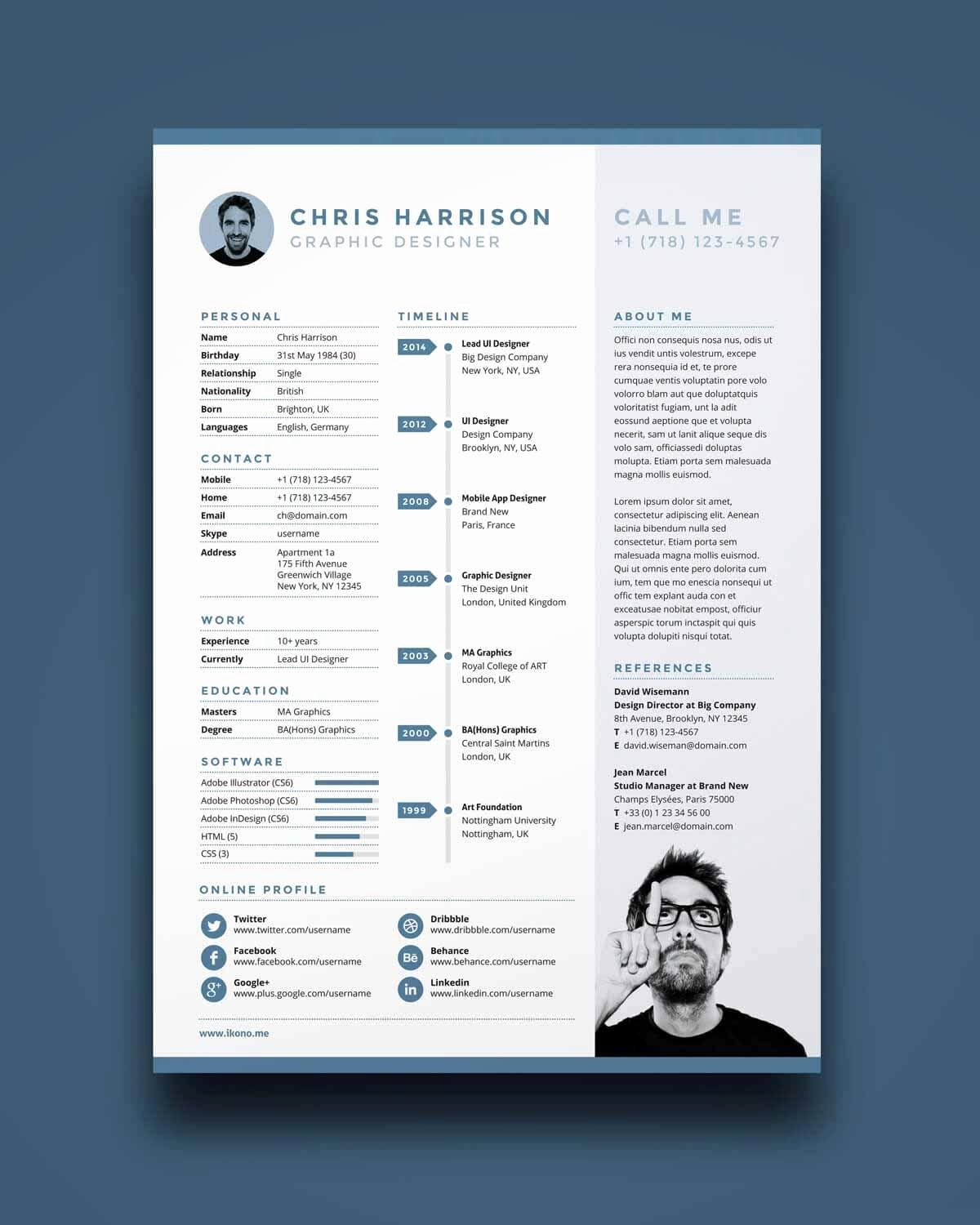 One Page Resume Examples New E Page Resume Templates 15 Examples to Download and Use now