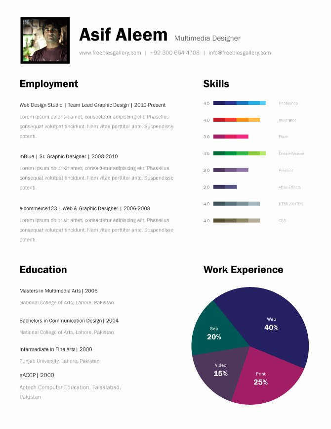 One Page Resume Examples Unique 11 Psd E Page Resume Templates Designbump