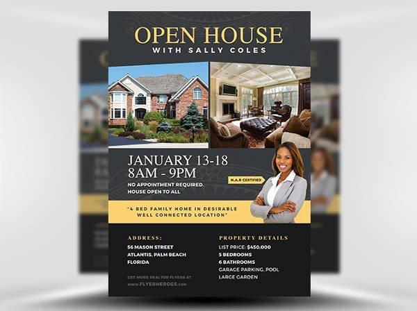 Open House Flyer Templates Awesome 13 Realtor Flyers Psd Word Ai Eps Vector