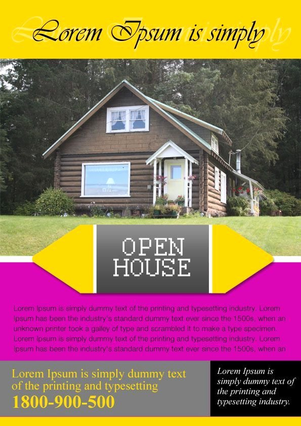 Open House Flyer Templates Awesome 34 Best Open House Flyer Ideas Images On Pinterest