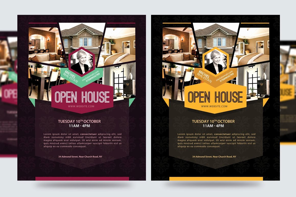 Open House Flyer Templates Awesome Open House Promotion Flyer V1 Flyer Templates Creative