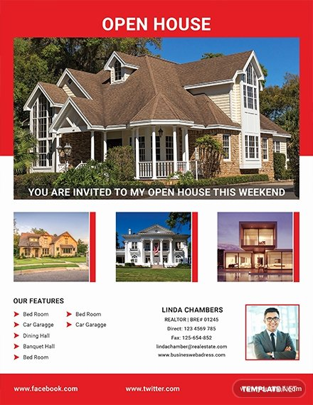 Open House Flyer Templates Elegant Free Broker Open House Flyer Template Download 640