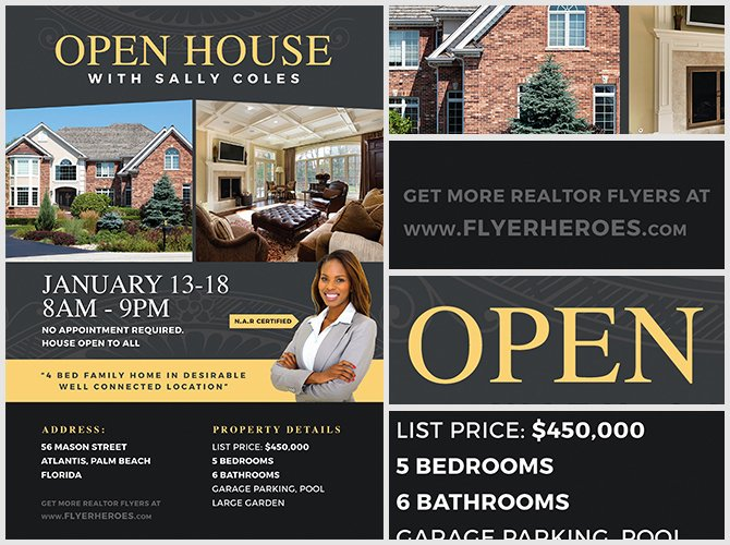 Open House Flyer Templates Elegant Open House Flyer Template 2 Flyerheroes
