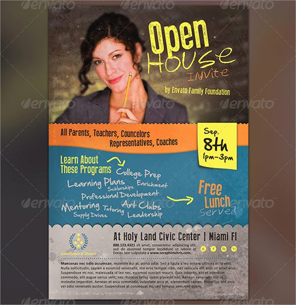 Open House Flyer Templates Fresh 23 Open House Flyers Word Ai Psd Eps Vector