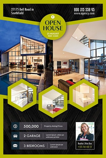 Open House Flyer Templates Fresh Open House Real Estate Free Flyer Template