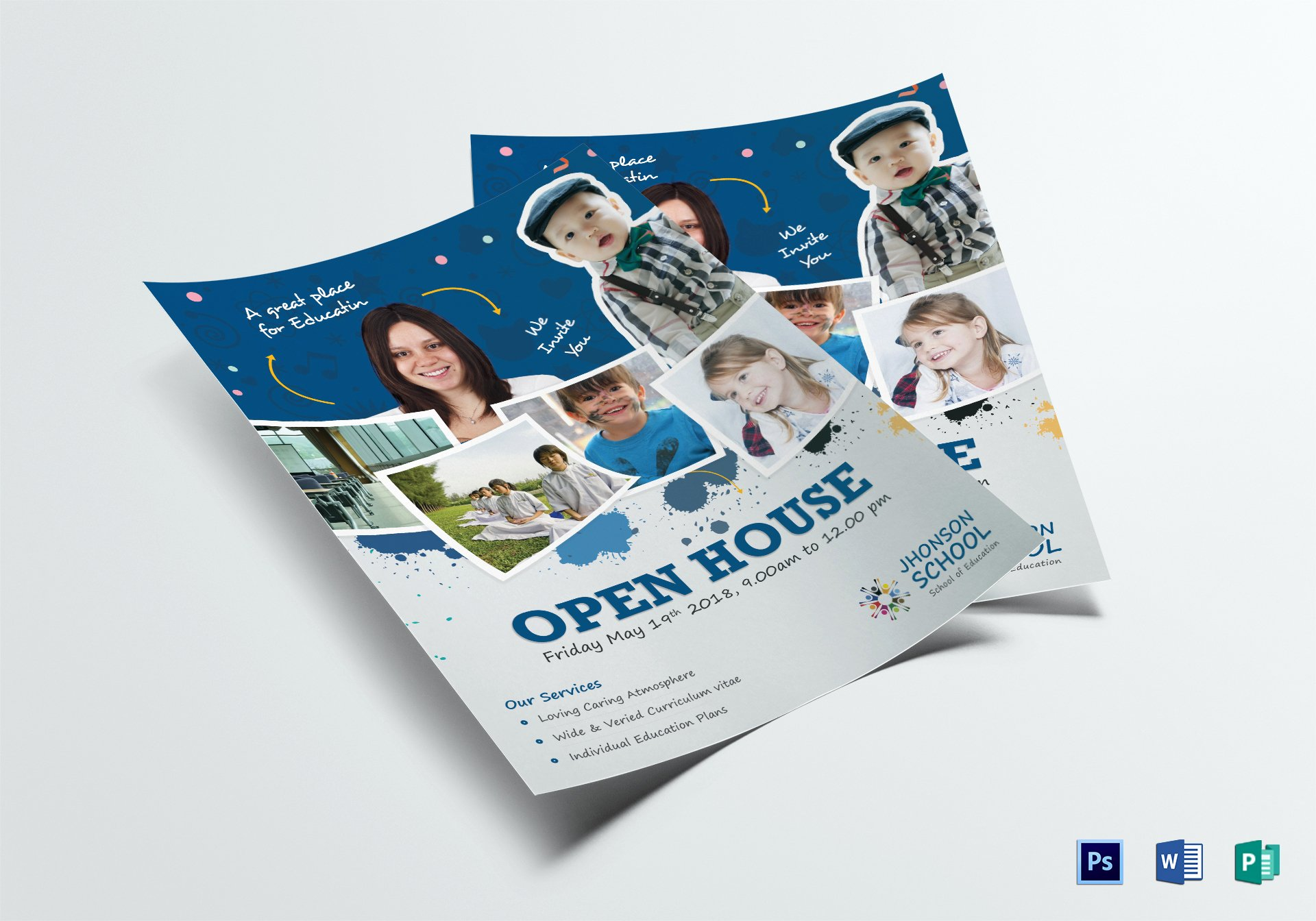 Open House Flyer Templates Lovely Kids Open House Flyer Design Template In Psd Word Publisher