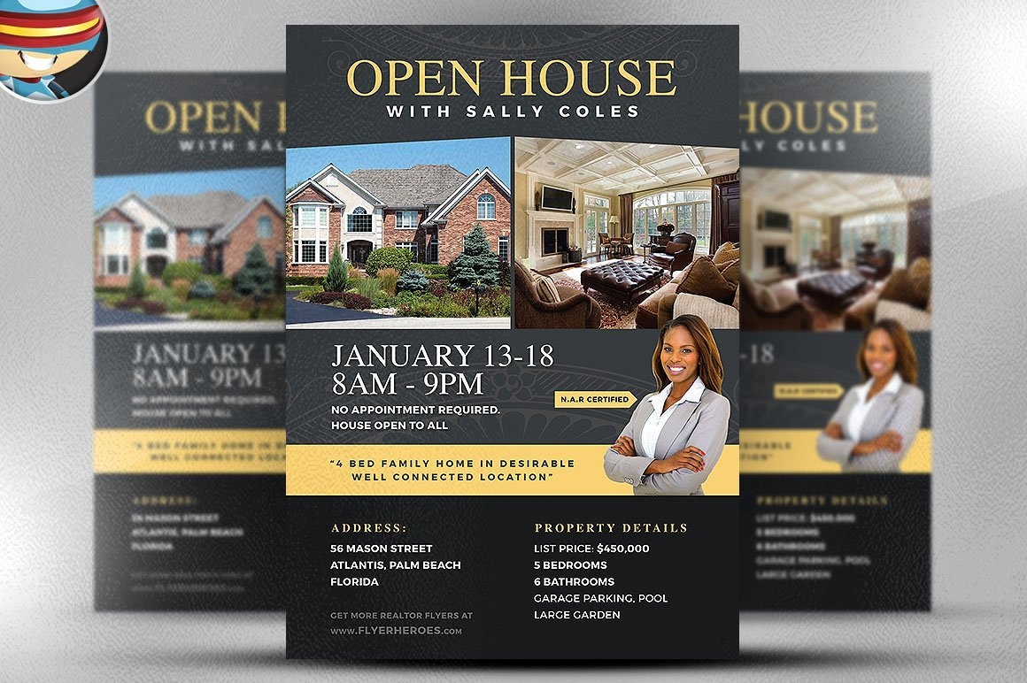 Open House Flyer Templates Lovely Open House Flyer Template 2 Flyer Templates Creative