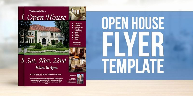 Open House Flyer Templates Luxury Free Open House Flyer Template – to View & Download