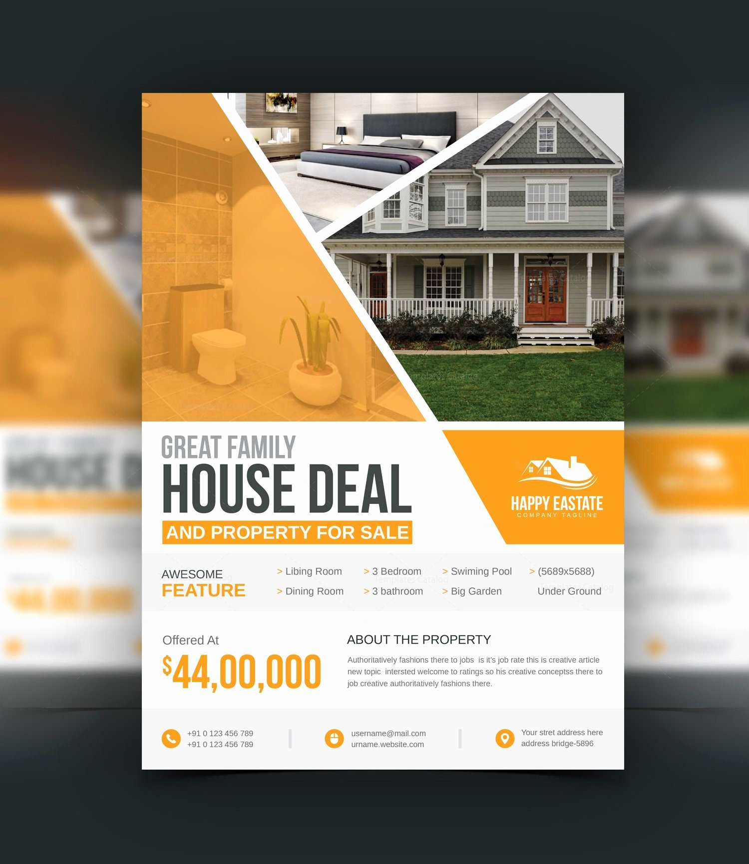 Open House Flyer Templates Luxury Modern Professional Open House Flyer Template