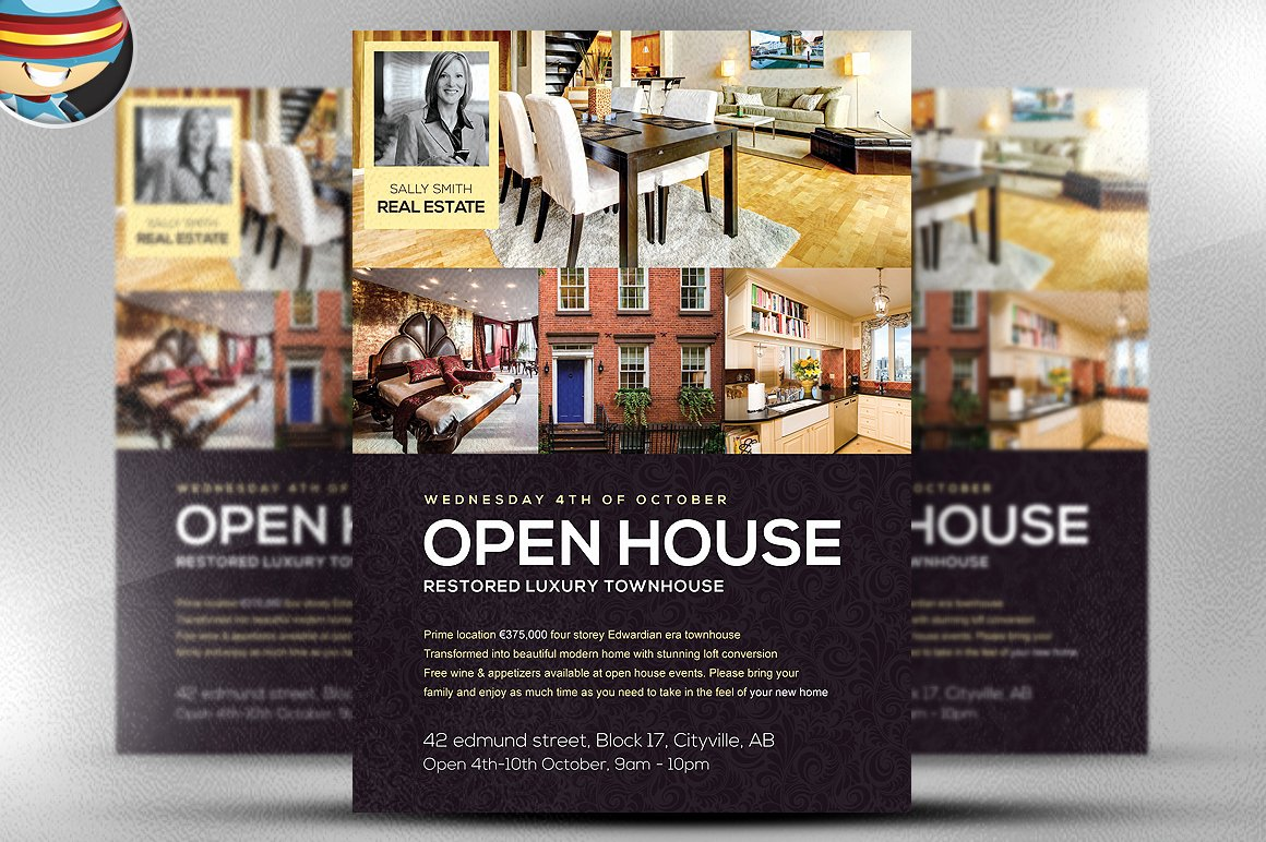 Open House Flyer Templates Luxury Open House Flyer Template Flyer Templates On Creative Market