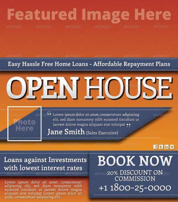 Open House Flyer Templates New 42 Open House Flyer Templates Word Psd Ai Eps Vector